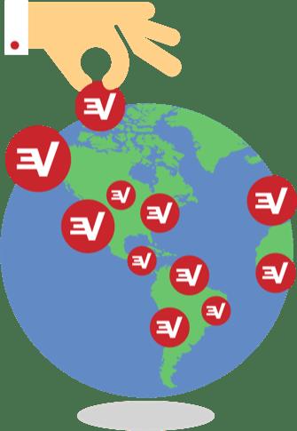 ExpressVPN around the world