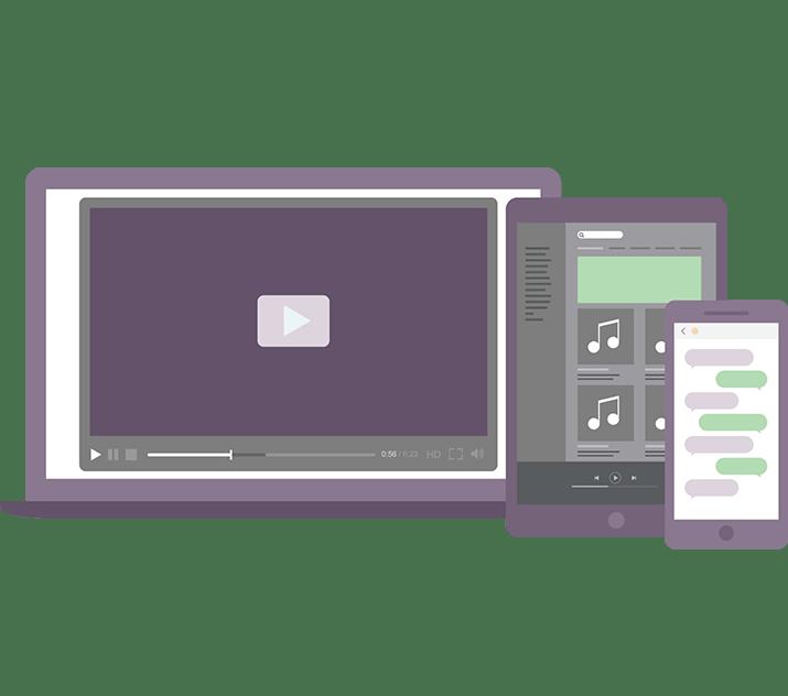 Entsperren Sie Streaming-Videos, Musik, Social Media und andere Webservices unabhängig von Ihrem Standort.